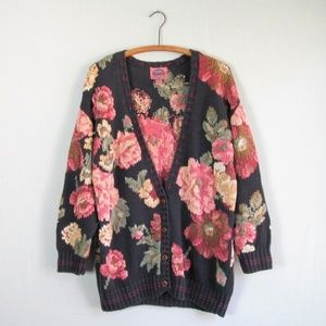 Vintage oversized floral granny style cardigan